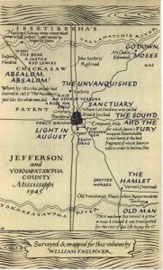 William Faulkner map