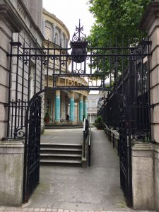 Entrance to the National Library of Ireland