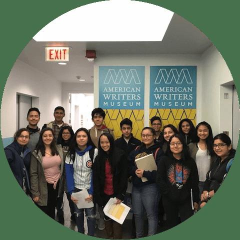 Sophomore Scholars visit the American Writers Museum