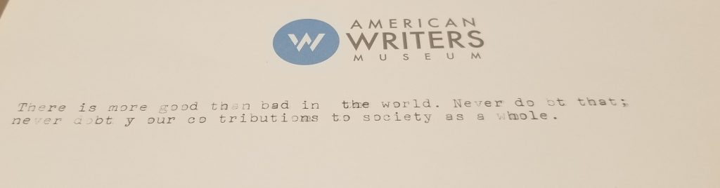 Personal Narrative Archives | The American Writers Museum