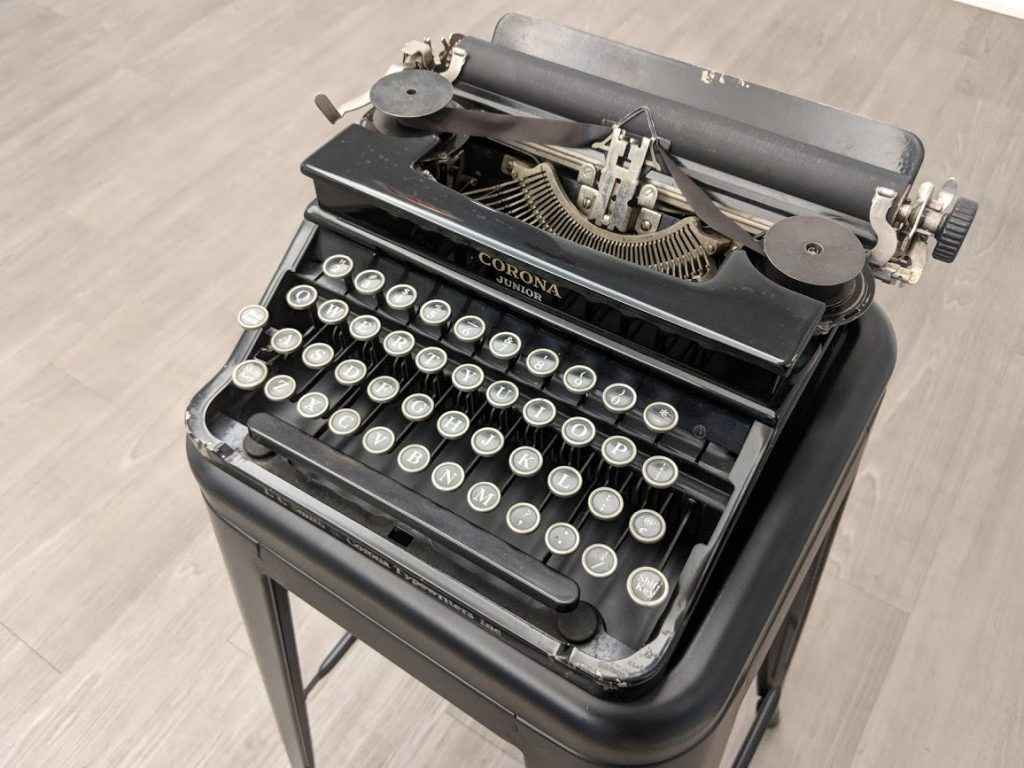 Tennessee Williams's typewriter on display in Tools of the Trade at the American Writers Museum
