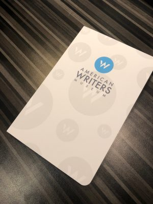 American Writers Museum logo notebook available for purchase online