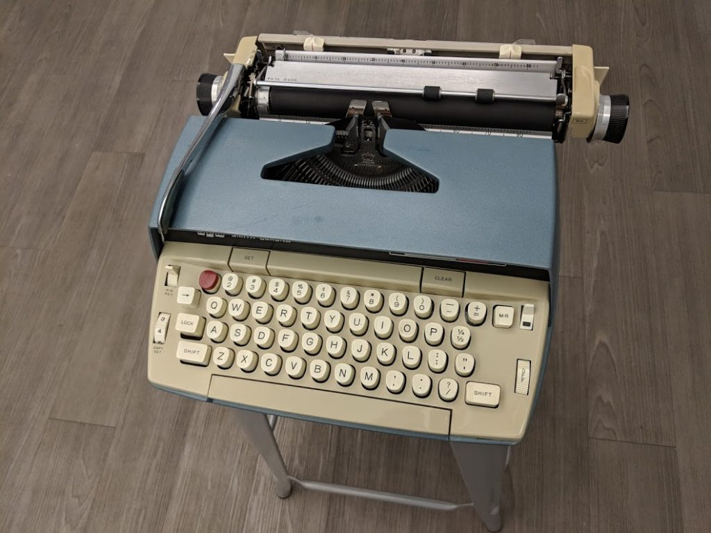Truman Capote's typewriter on display at the American Writers Museum