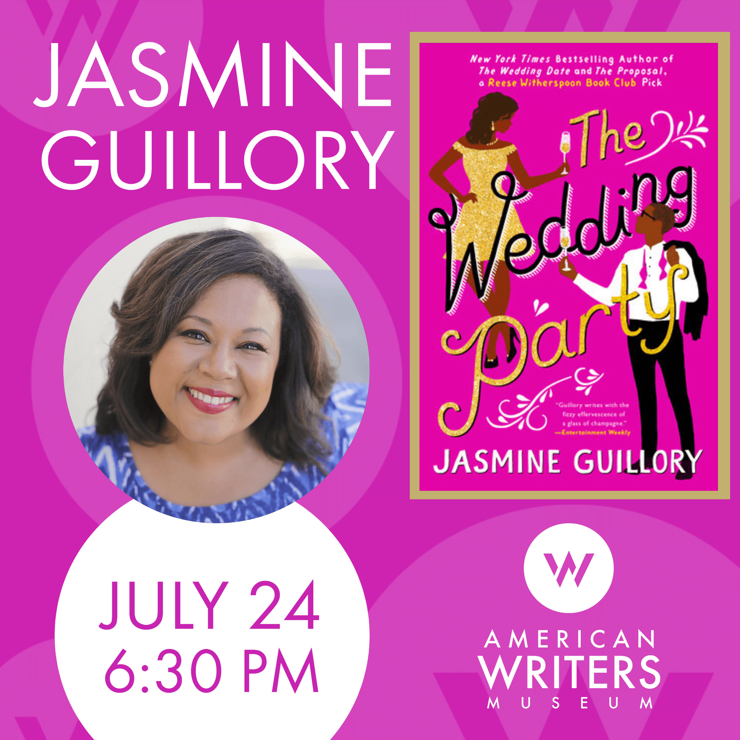 Jasmine Guillory at the American Writers Museum on July 24