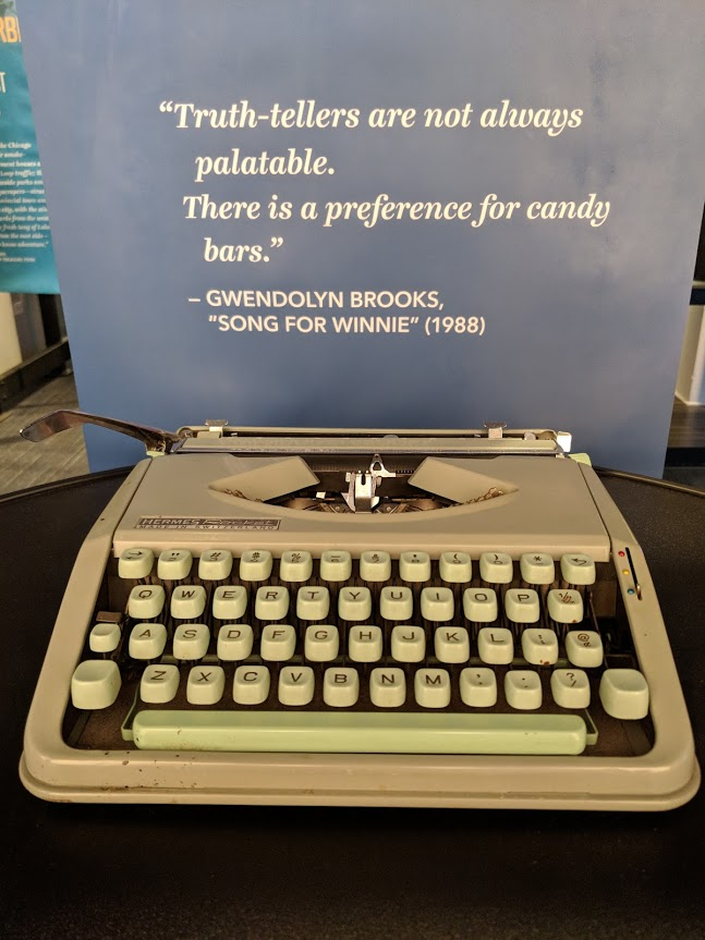 Gwendolyn Brooks typewriter on display at the American Writers Museum