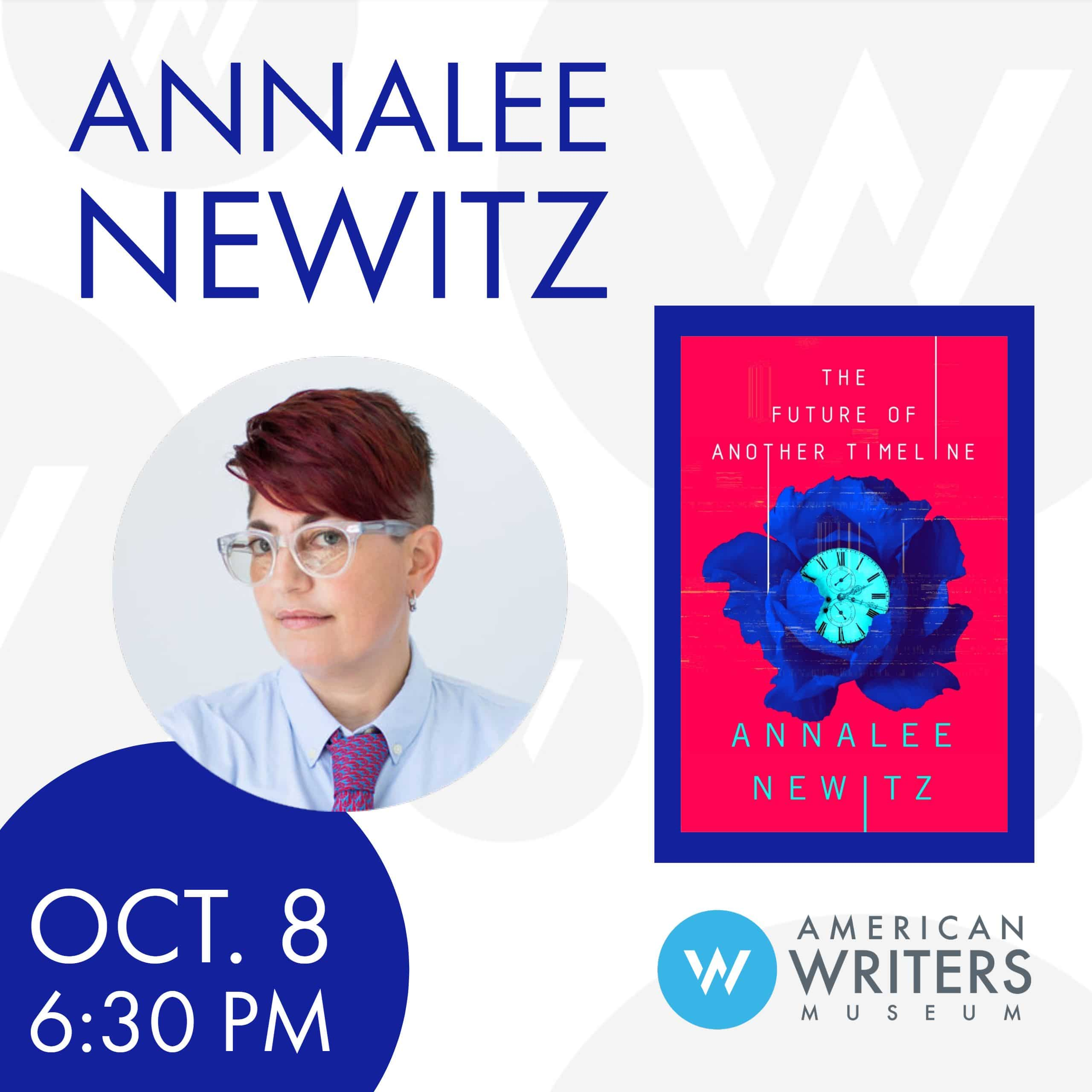 Annalee Newitz at the American Writers Museum on October 8 at 6:30 pm.