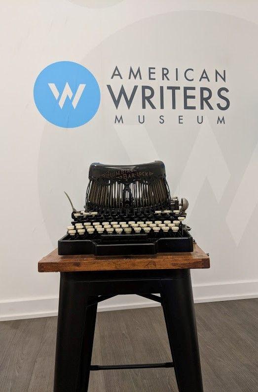 Jack London's typewriter on display at the American Writers Museum