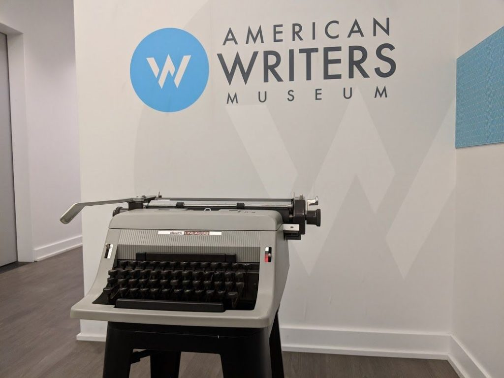 Mildred Benson's typewriter is on display at the American Writers Museum.