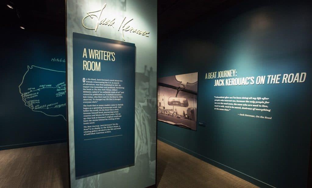 The Jack Kerouac exhibit in the American Writers Museum's Writers Room