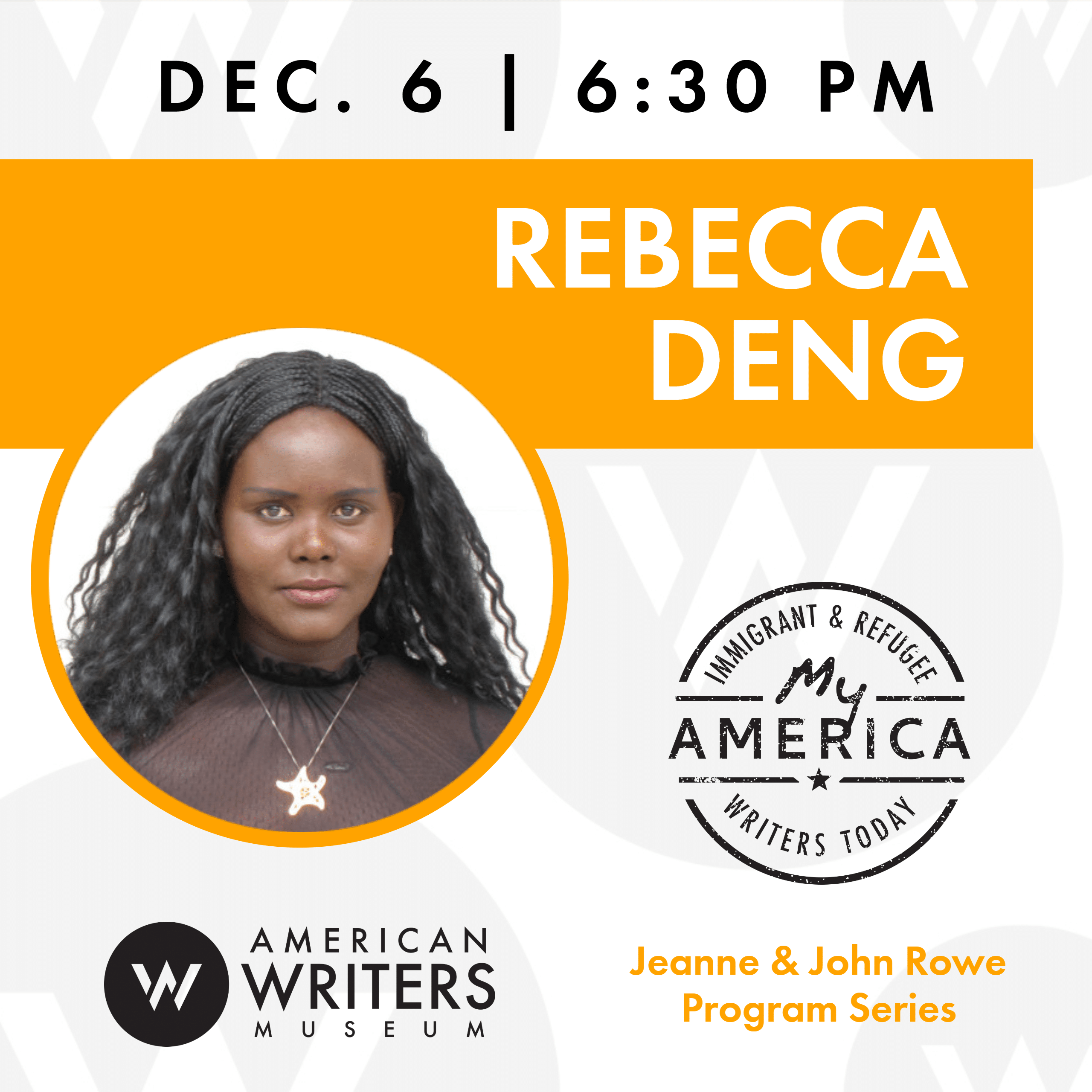Rebecca Deng event at the American Writers Museum on December 6, 2019