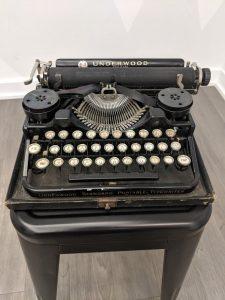 Ernest Hemingway's typewriter on display at the American Writers Museum