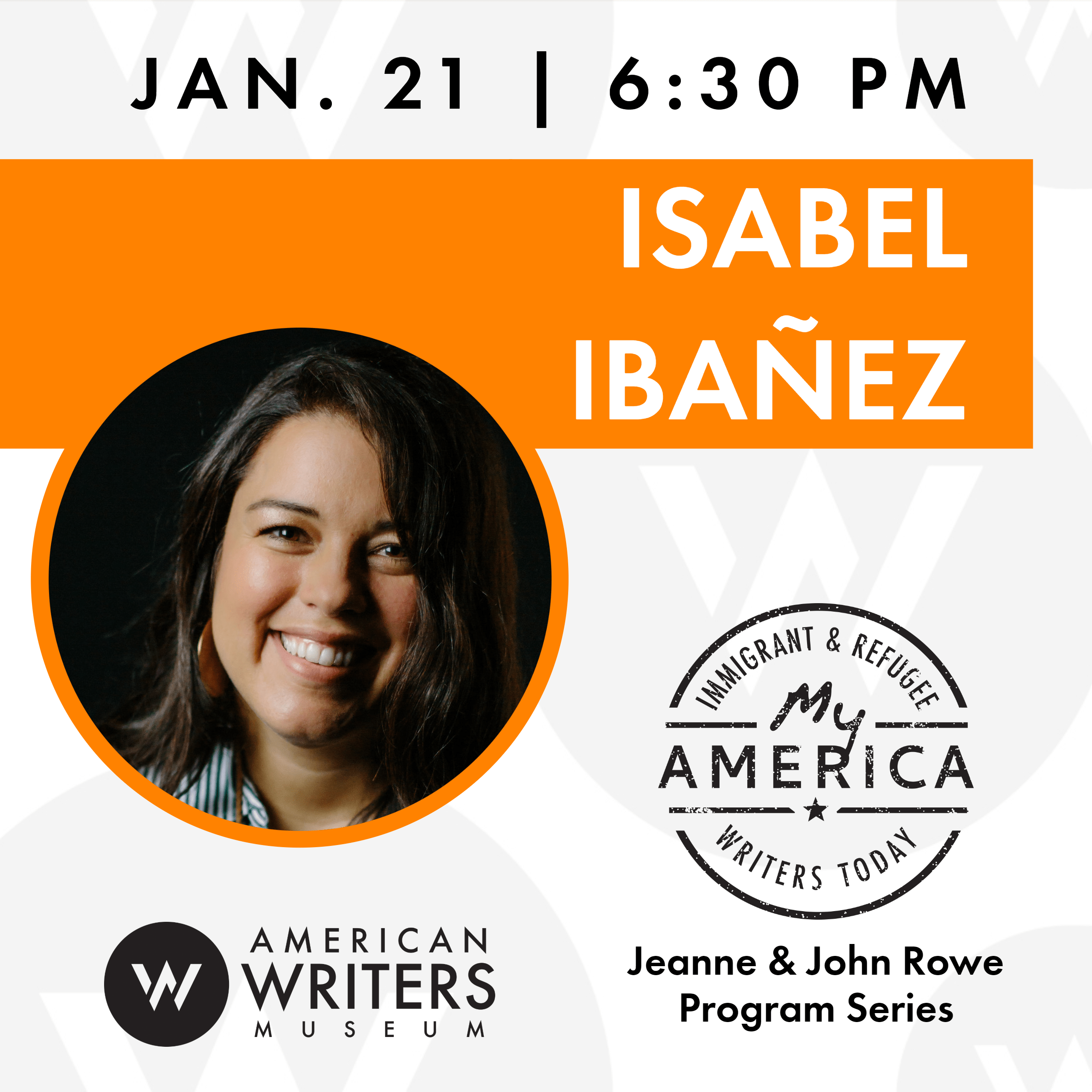 Isabel Ibanez at the American Writers Museum on January 21