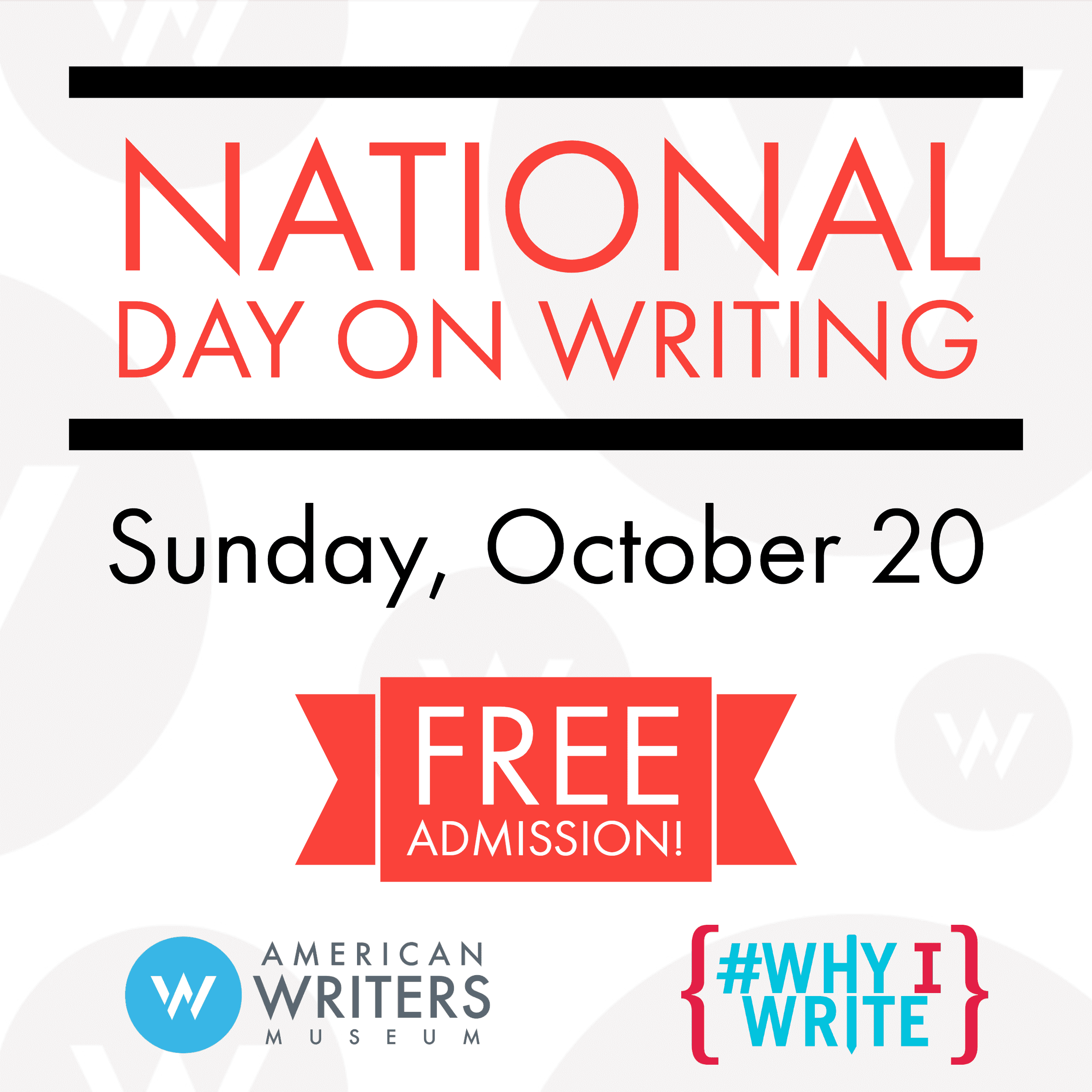 On October 20, celebrate National Day On Writing with free admission to the American Writers Museum