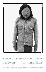 Eyes Bottle Dark with a Mouthful of Flowers by Jake Skeets