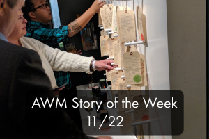 The AWM Story of the Week blog on November 22, 2019 features four immigration stories shared in My America: Immigrant and Refugee Writers Today