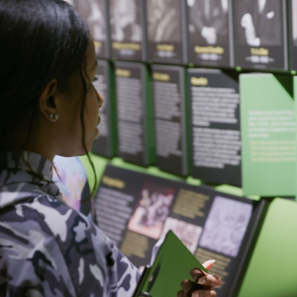 A students works on curriculum provided by the American Writers Museum on a field trip in Chicago