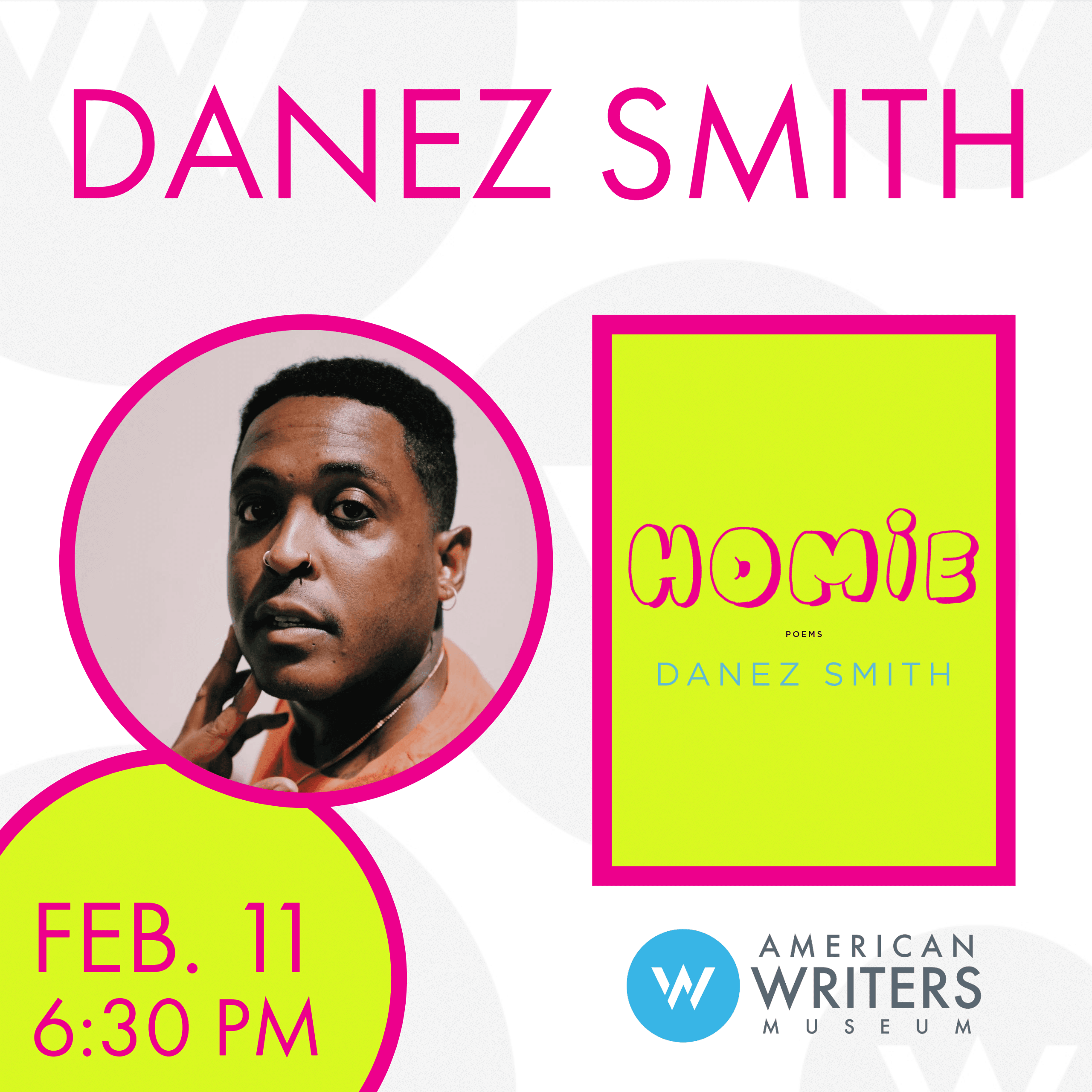 "Danez Smith presents their new poetry collection ""Homie"" at the American Writers Museum on February 11"