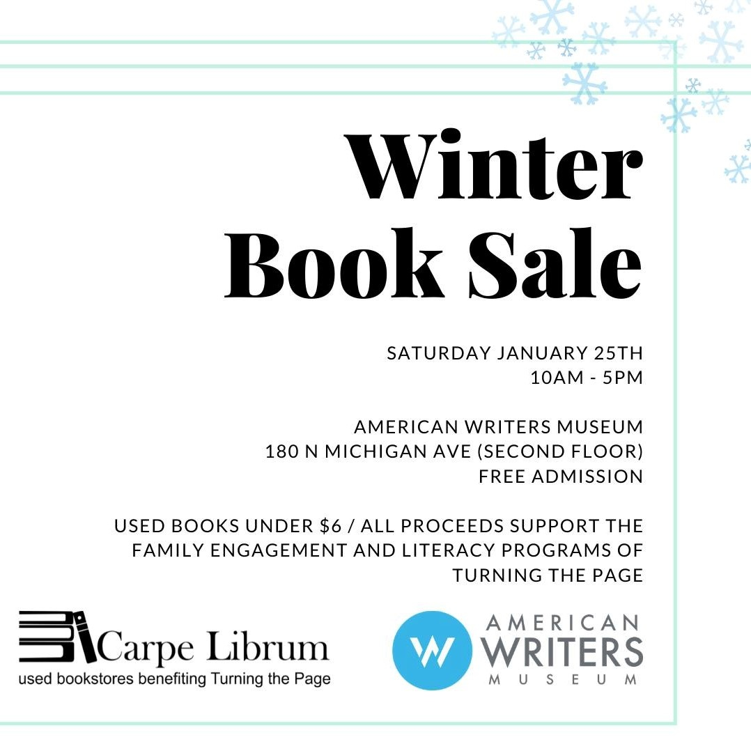 Carpe Librum Pop Up at the American Writers Museum on January 25