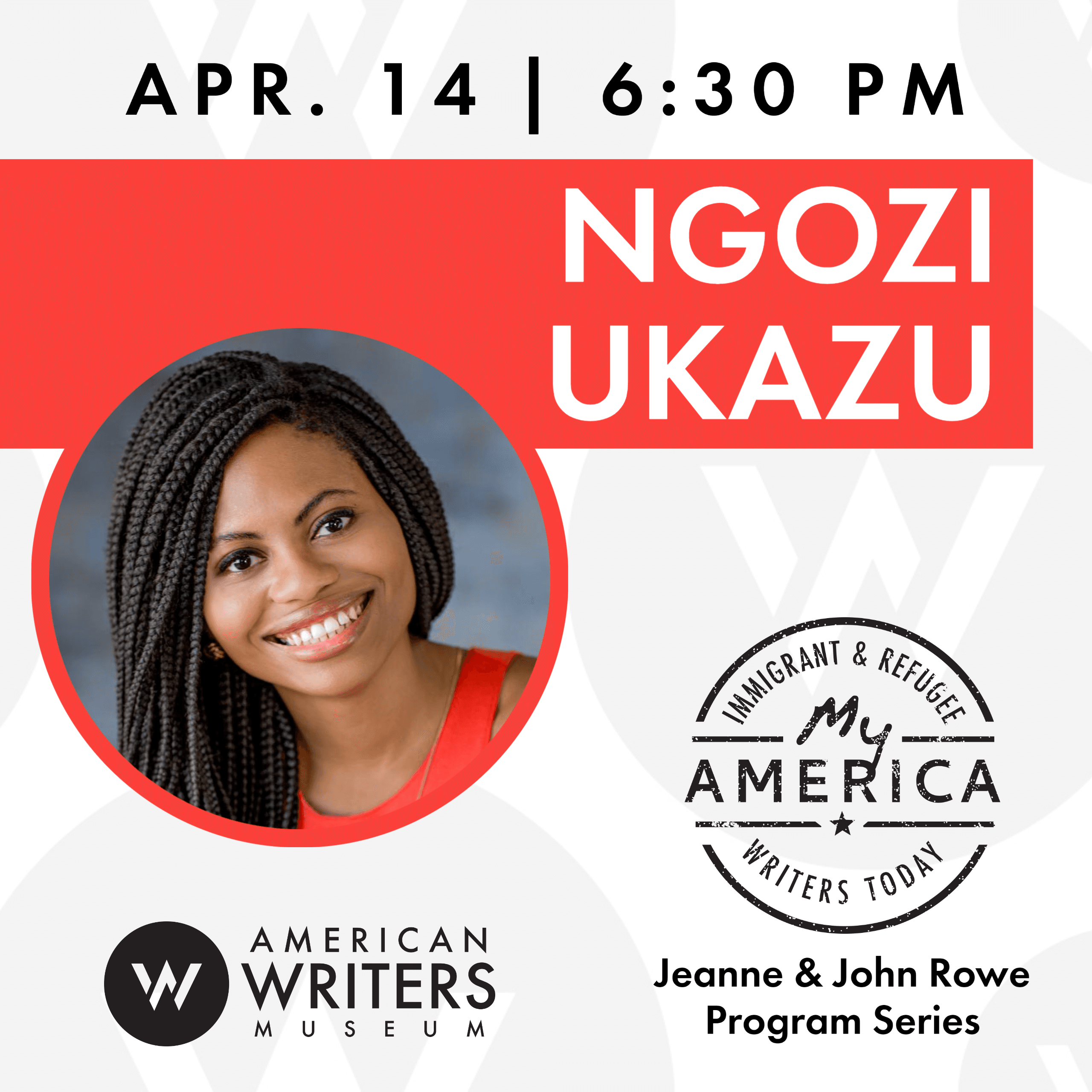 Ngozi Ukazu book reading and signing at the American Writers Museum in Chicago on April 14