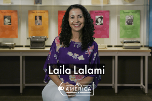 Laila Lalami featured in the special exhibit My America at the American Writers Museum