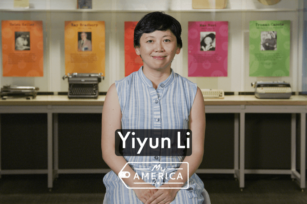 Yiyun Li featured in the American Writers Museum's special exhibit My America: Immigrant and Refugee Writers Today