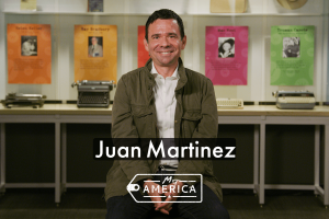 Juan Martinez featured in the American Writers Museum's special exhibit My America