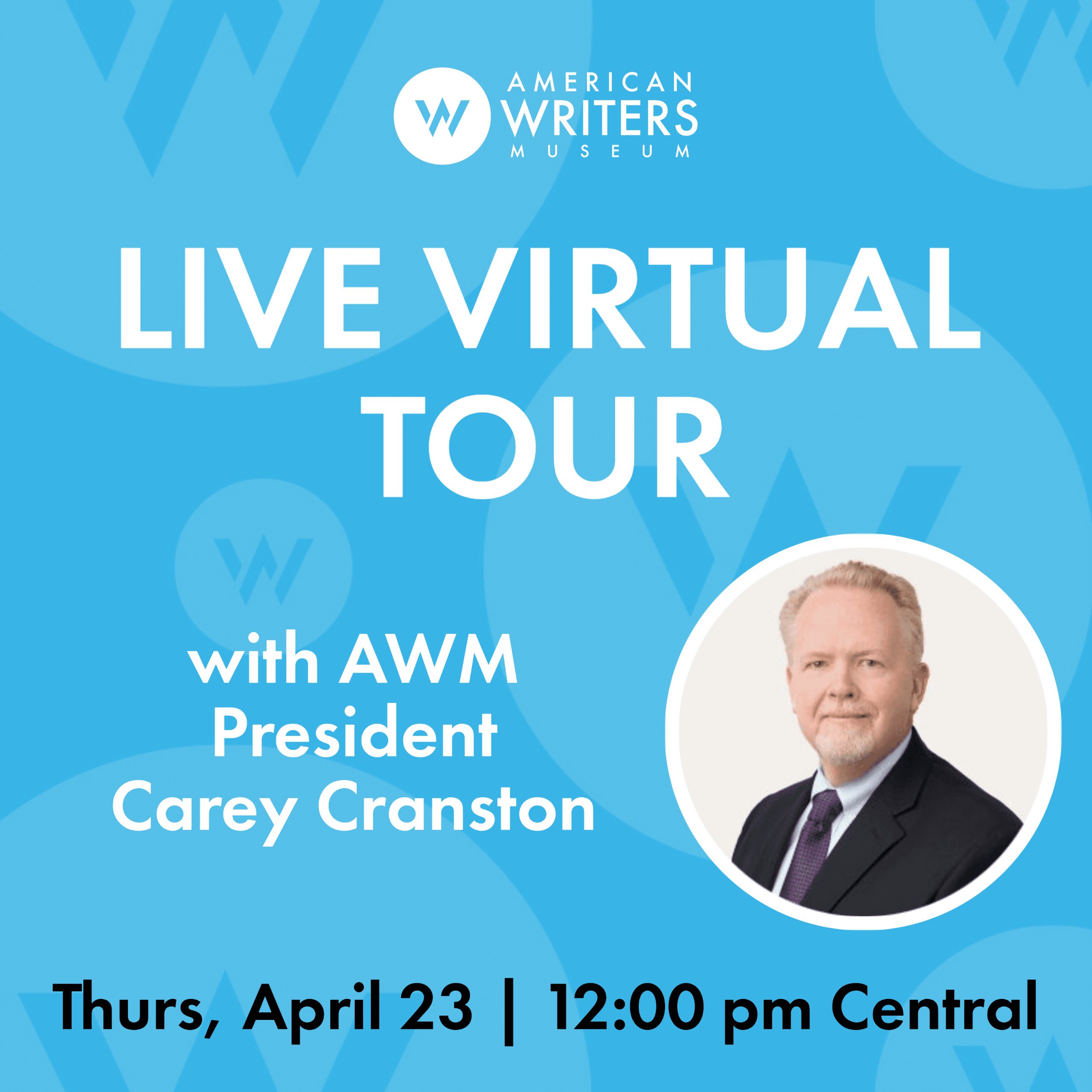 Join American Writers Museum president Carey Cranston on a virtual tour of the AWM