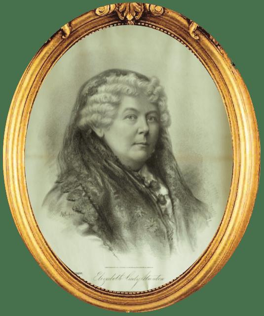 A portrait of women's rights activist Elizabeth Cady Stanton