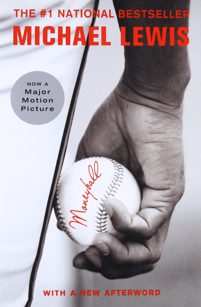 Moneyball, an iconic baseball book by Michael Lewis
