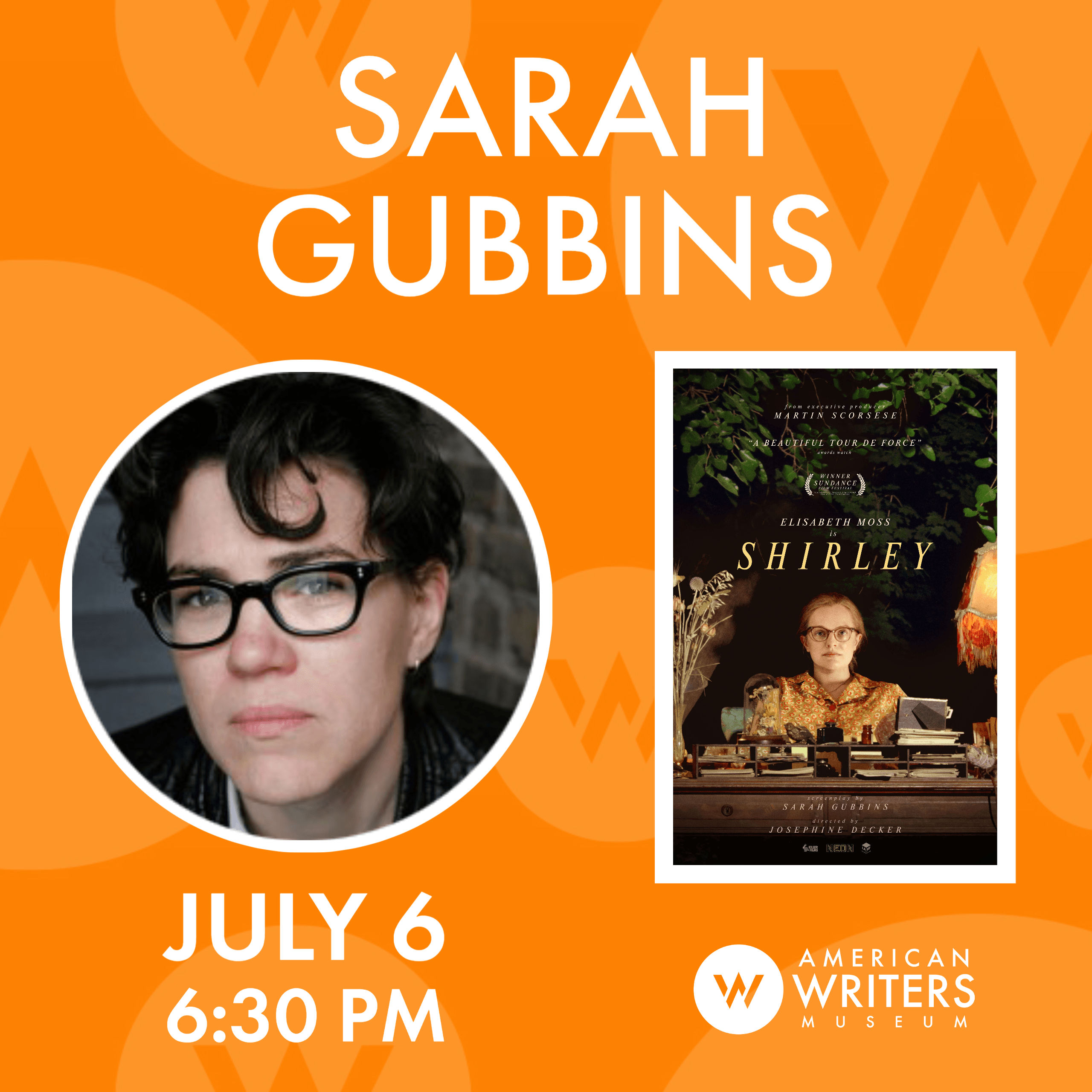 American Writers Museum presents a conversation with screenwriter Sarah Gubbins about her work on the film Shirley