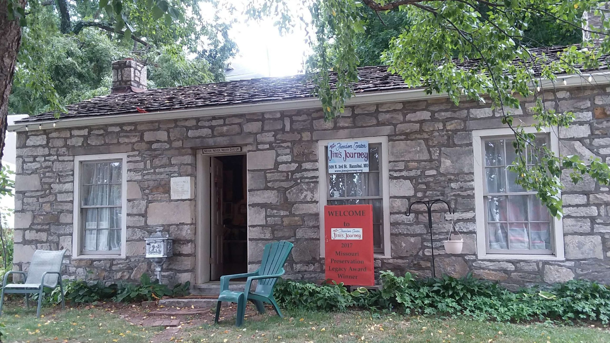 Jim's Journey: The Huck Finn Freedom Center in Hannibal, Missouri is an affiliate museum of the American Writers Museum in Chicago, Illinois