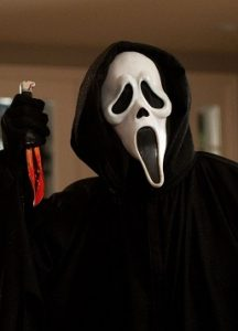 Picture of Ghostface, from the Scream movies