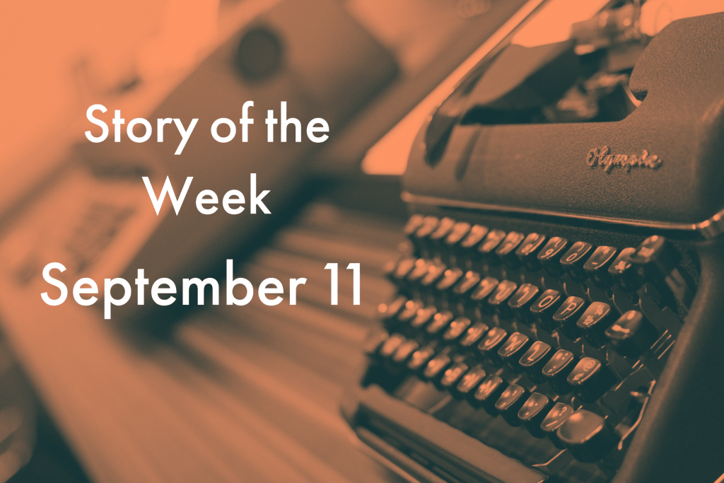 American Writers Museum Story of the Week for September 11, 2020
