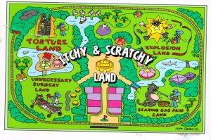 A map of Itchy and Scratchy Land