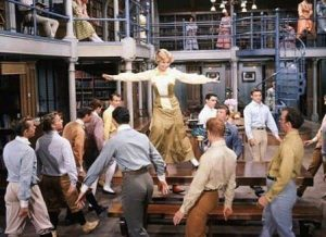"""The library in the River City, Iowa, from the play """"The Music Man"""""""