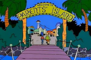 Parents Island at Itchy and Scratchy Land
