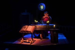 the dark sanctum of Madame Leota who will perform a one-of-a-kind séance