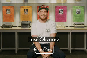 José Olivarez featured in the American Writers Museum's special exhibit My America: Immigrant and Refugee Writers Today